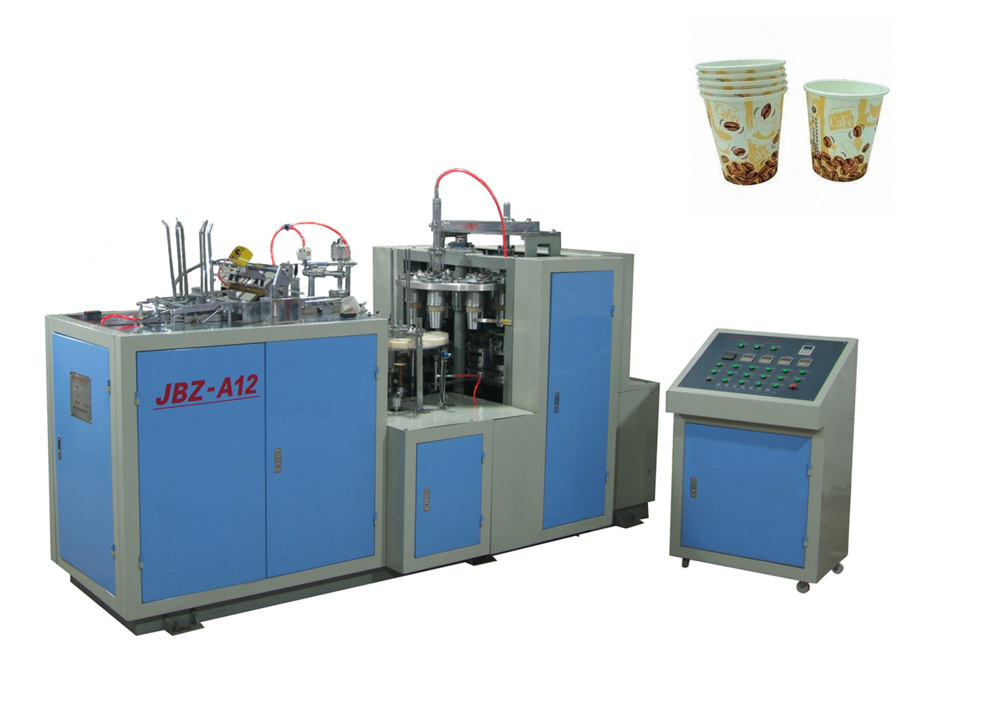 Low Noise Fully Automatic Paper Cup Machine Customized With Photocell Detection