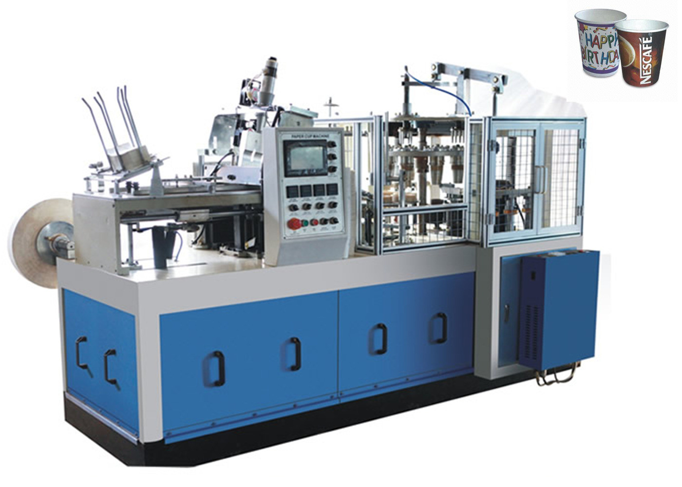 Hot air system Tea Cup Manufacturing Machine Medium Speed Ultrasonic Heater Sealing