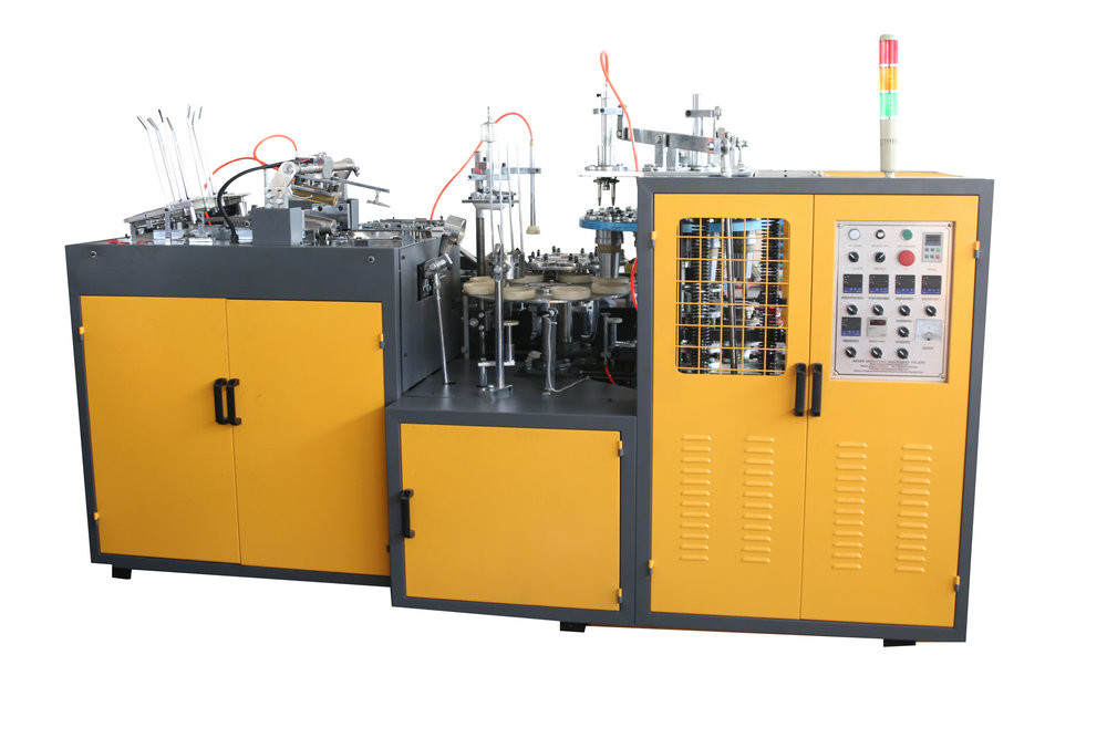 PE Disposable Cup Manufacturing Machine , Automatic Paper Cup Forming Machine